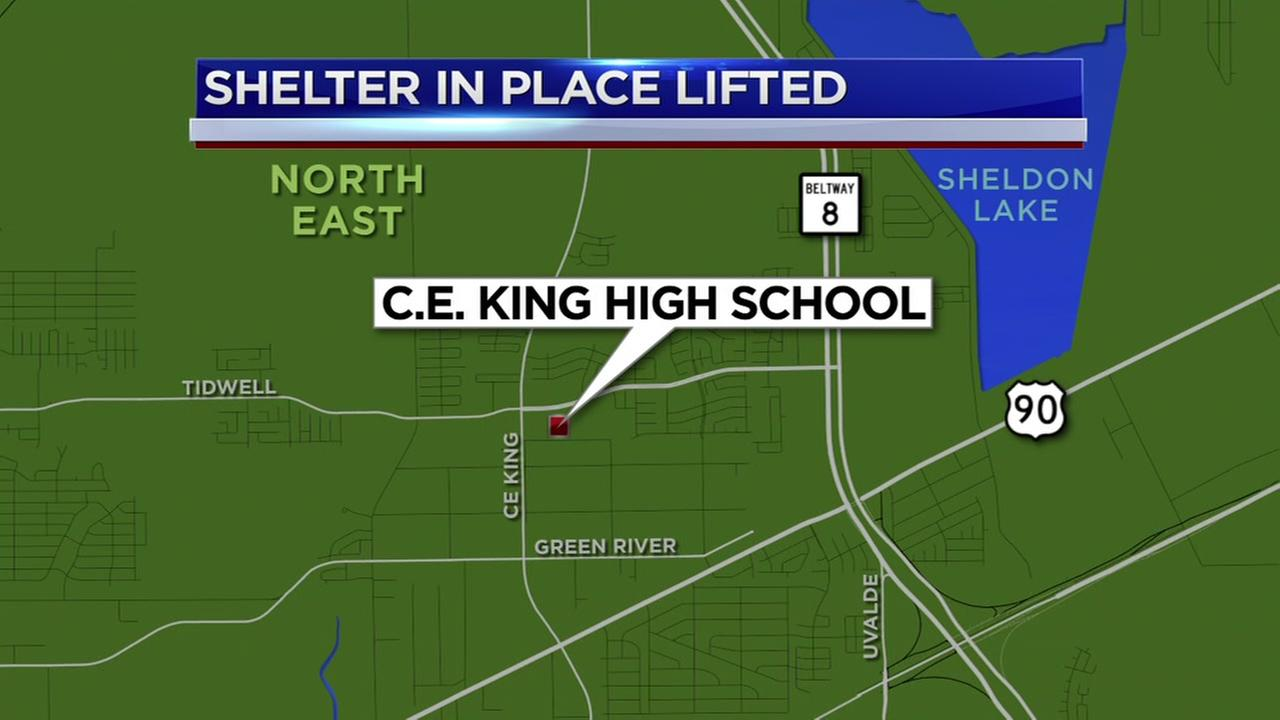 Shelter in place lifted at C.E. King HS