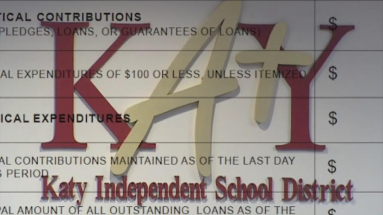 Why no campaign finance records on Katy ISD website?
