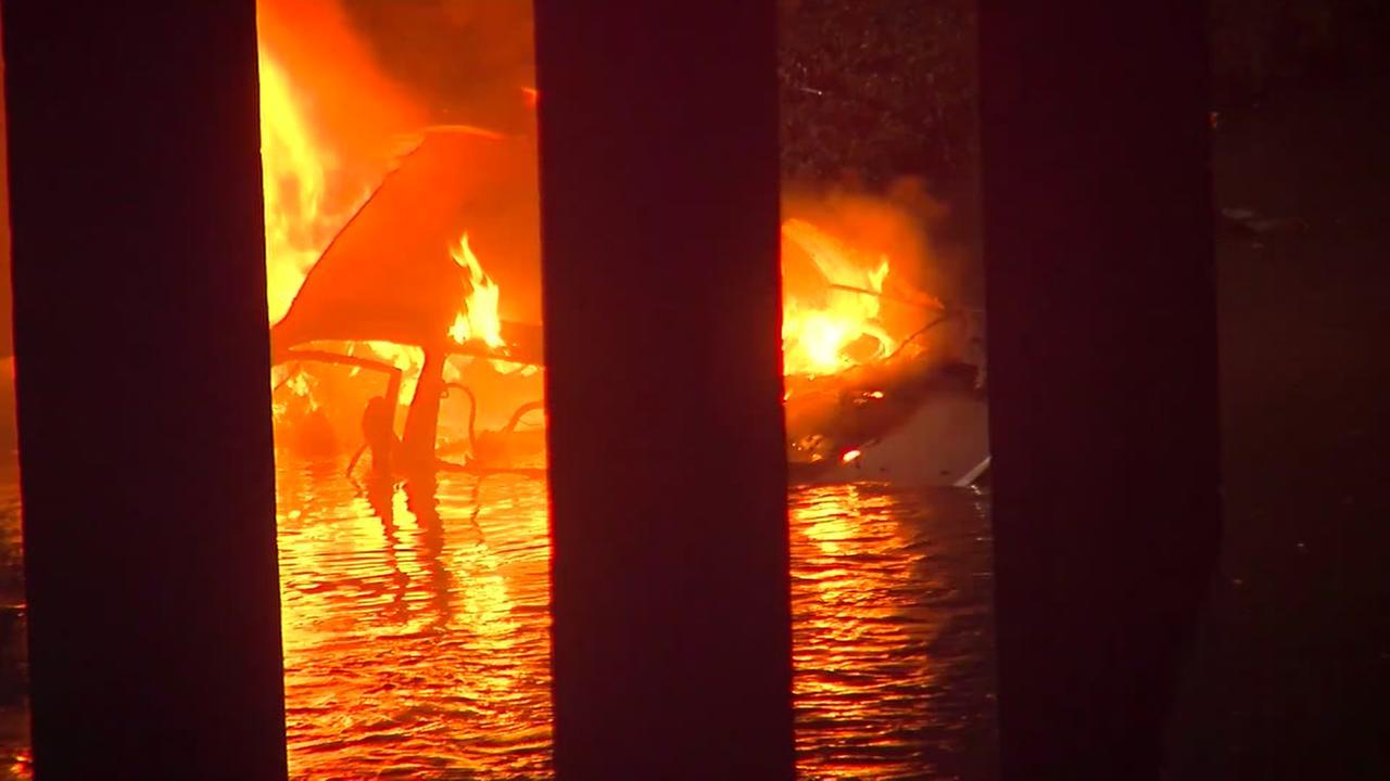 Chase suspect dies in fiery crash in north Houston