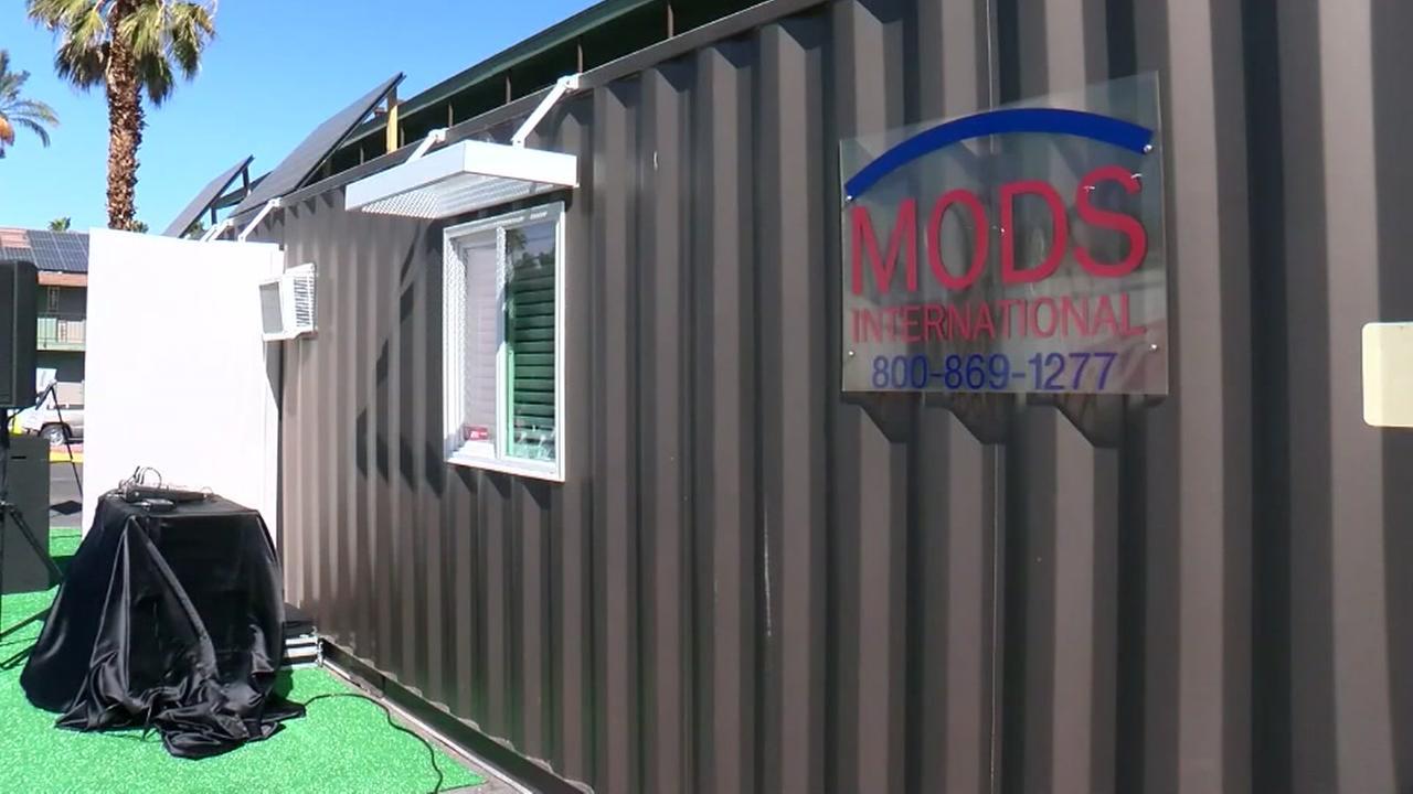 Homeless vets get tiny houses