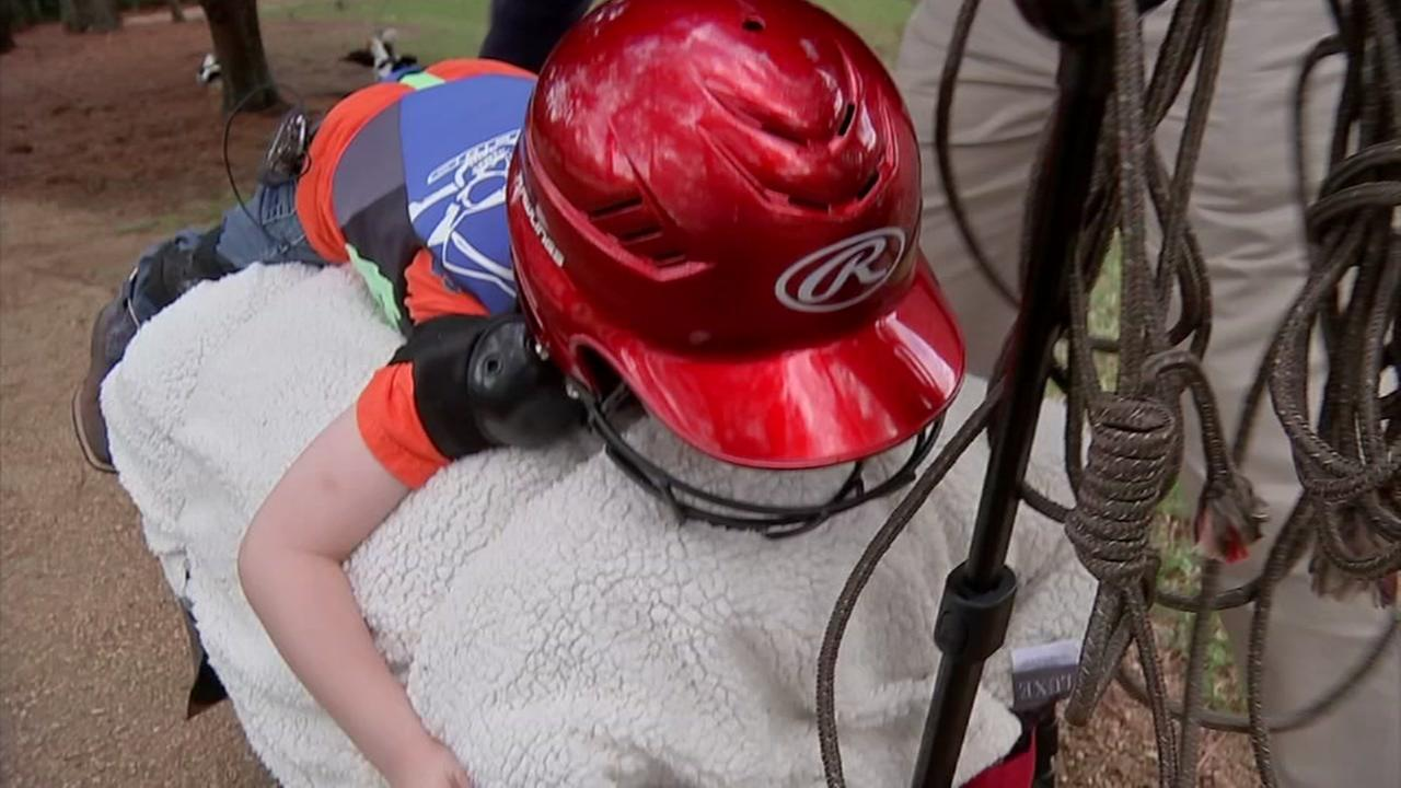 Houston family goes the extra mile to prepare their son for mutton busting debut
