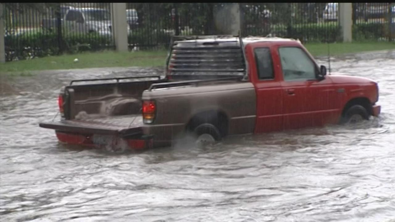 Already-saturated streets flood with new showers