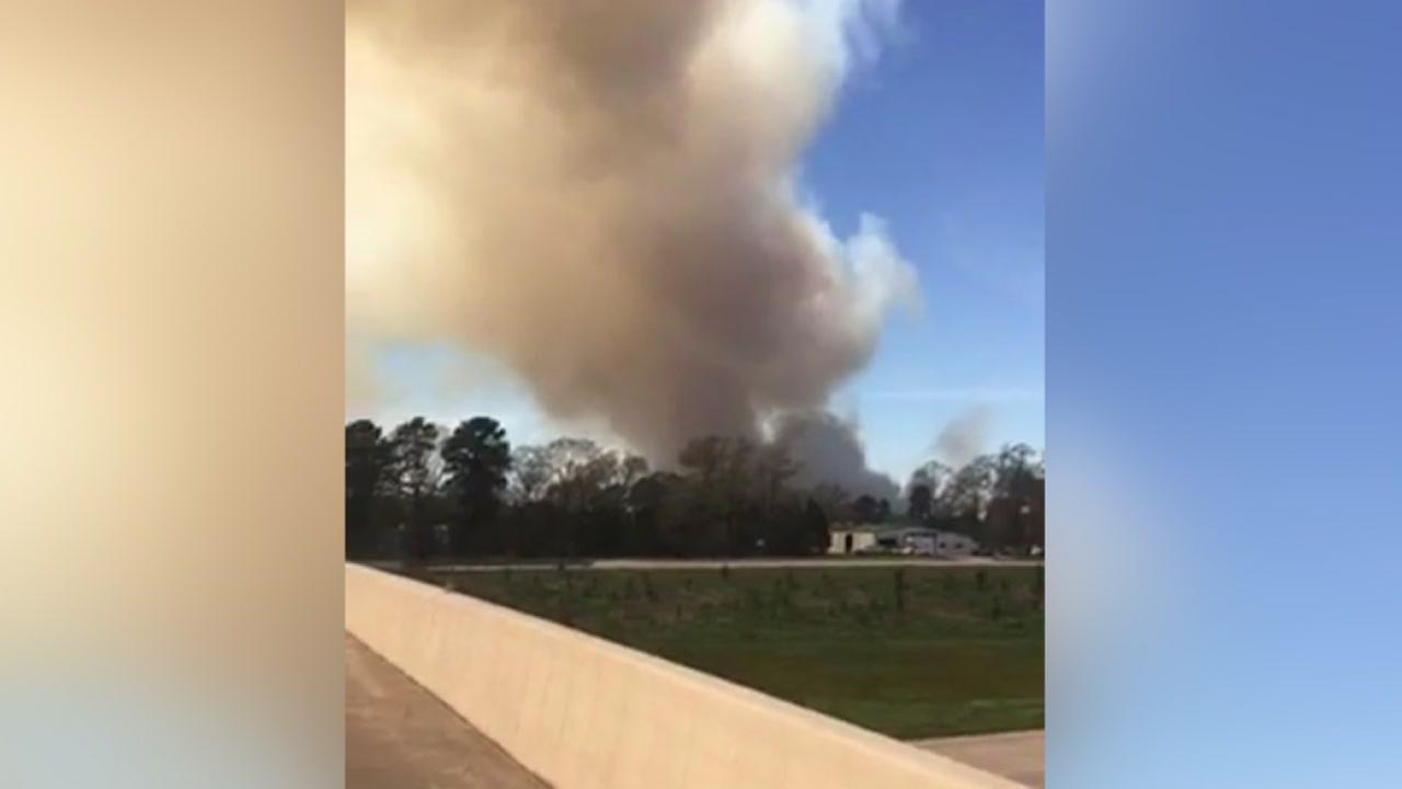 Controlled burn at Sam Houston National Forest startles drivers