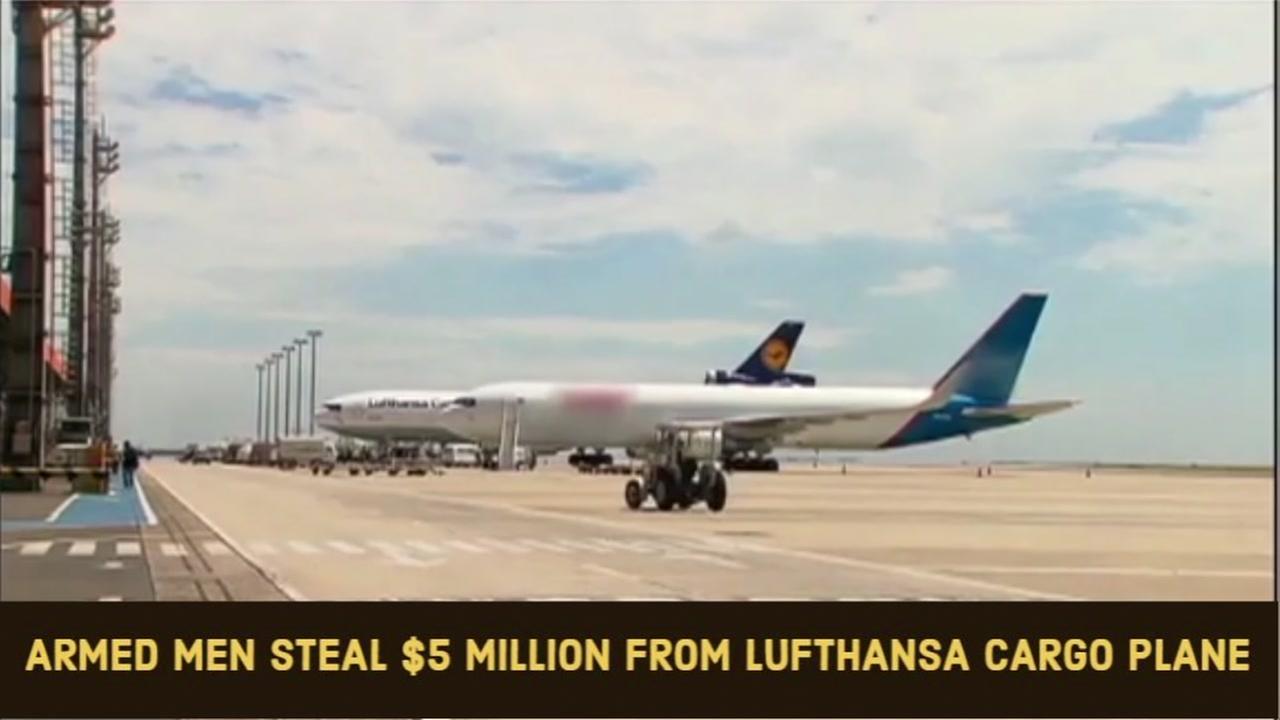 Armed men steal $5 million in cash in airport heist