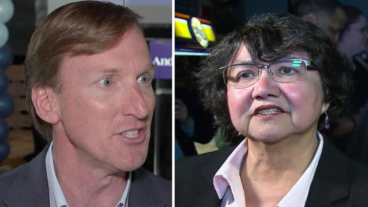 Andrew White and Lupe Valdez