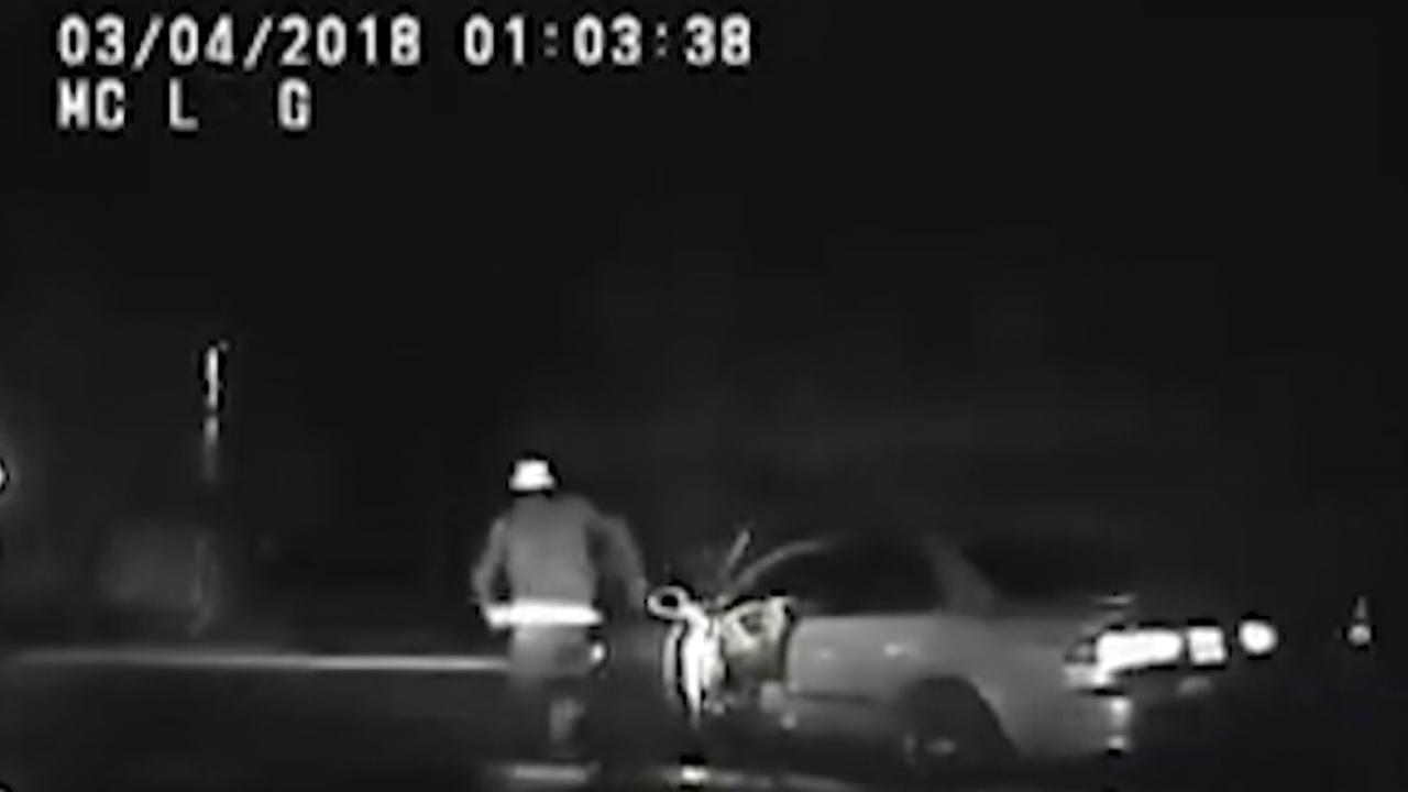 Suspected drunk driver run over by own car