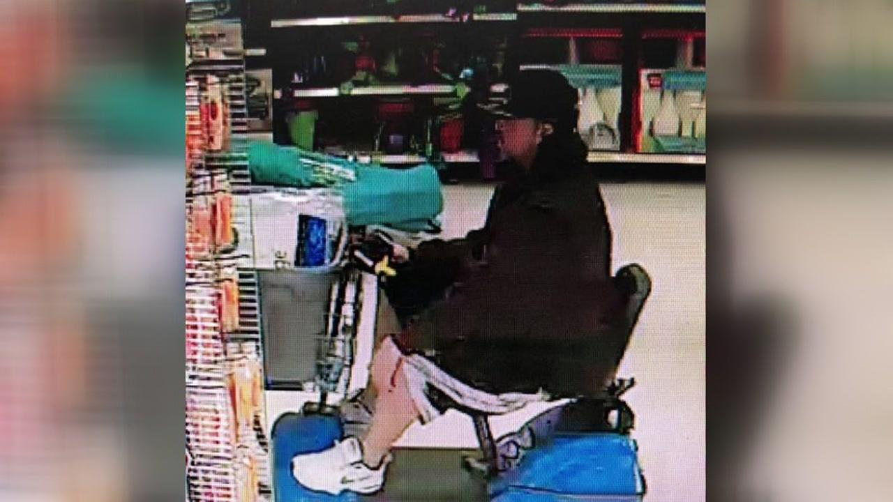 Wharton police are searching for a man they say pretended to be disabled, but was able to quickly stand up and steal