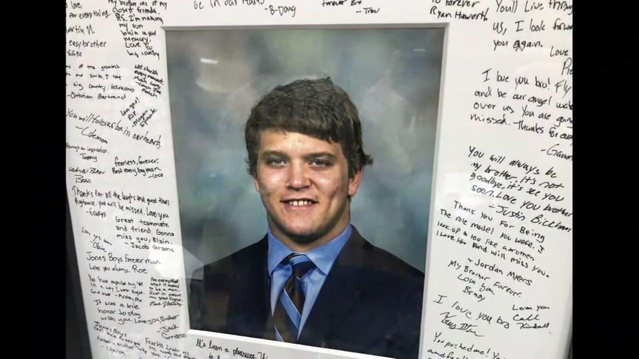 Rice athlete university funeral