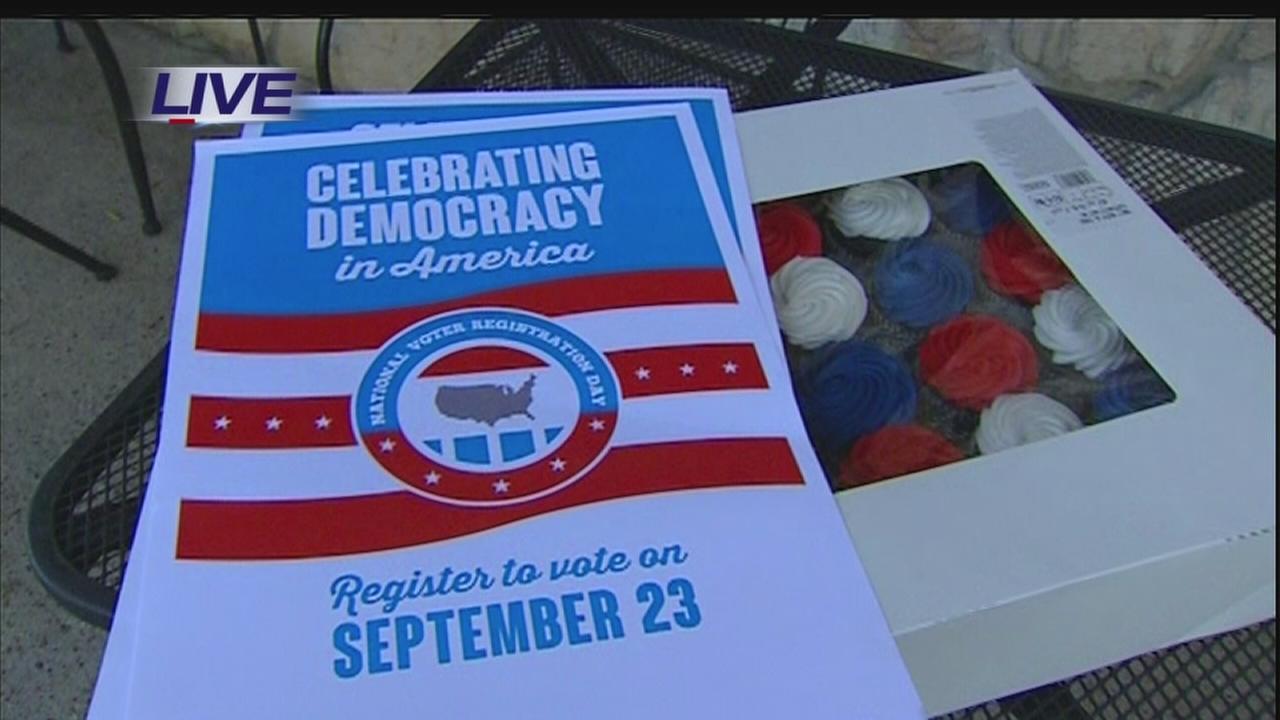 Voter registration drive underway