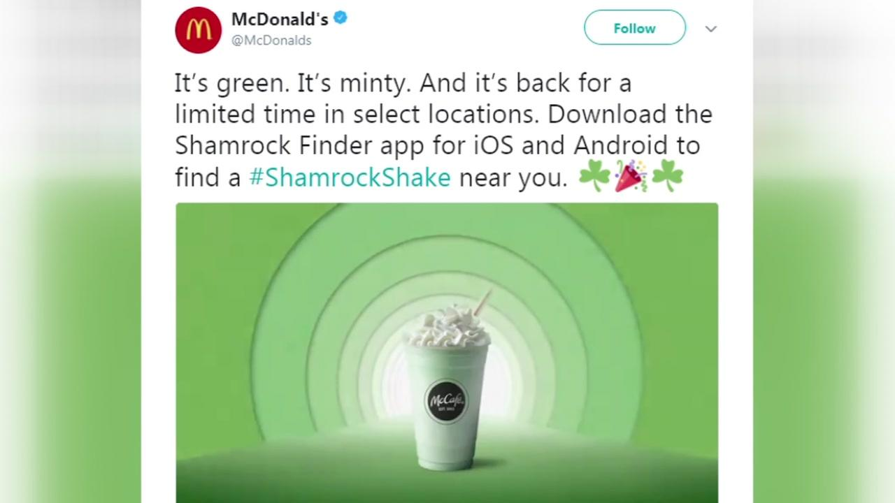 No shamrock shakes in Texas