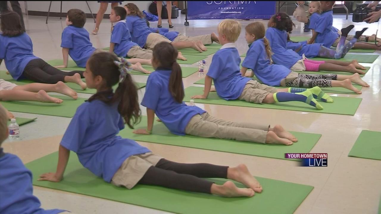 HISD adopts yoga to help students