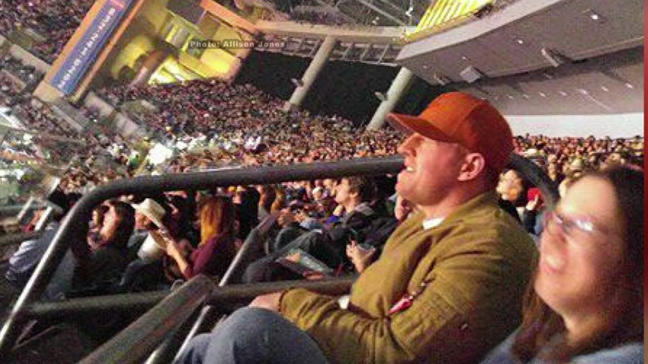 Watt spotted sitting in cheap seats section during Zac Brown Band concert