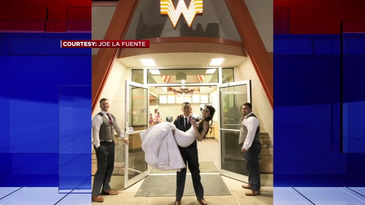 Couple celebrates wedding at Whataburger