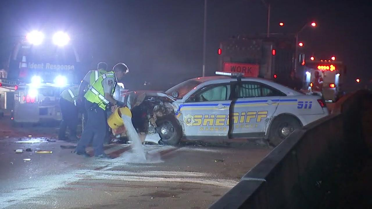 Deputy injured in crash on beltway 8