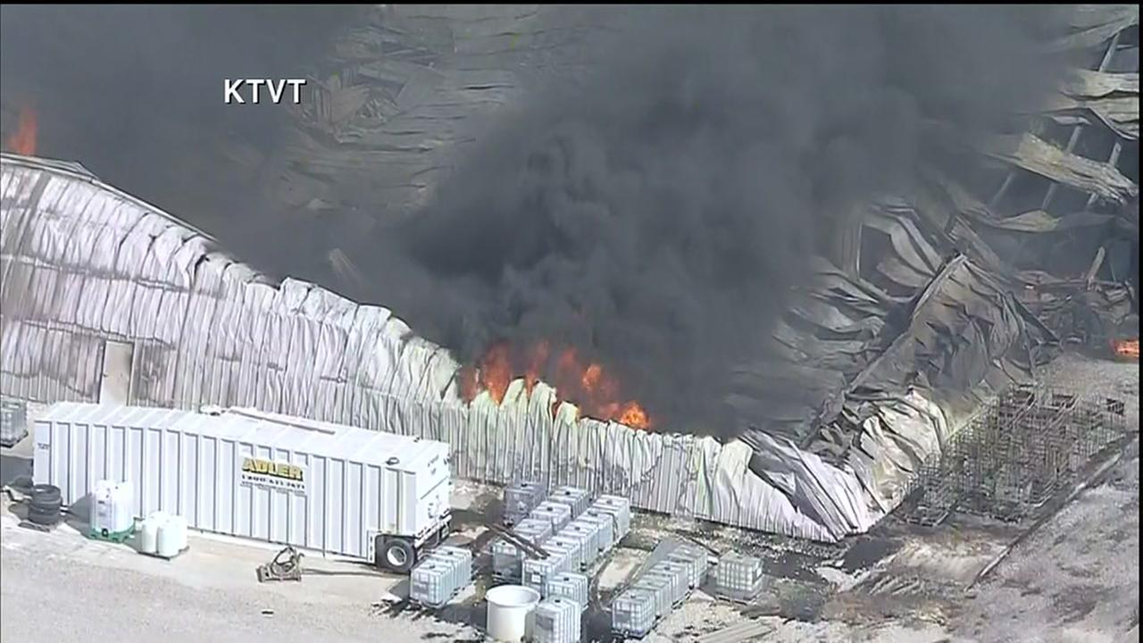 Chemical plant explosion in North Texas