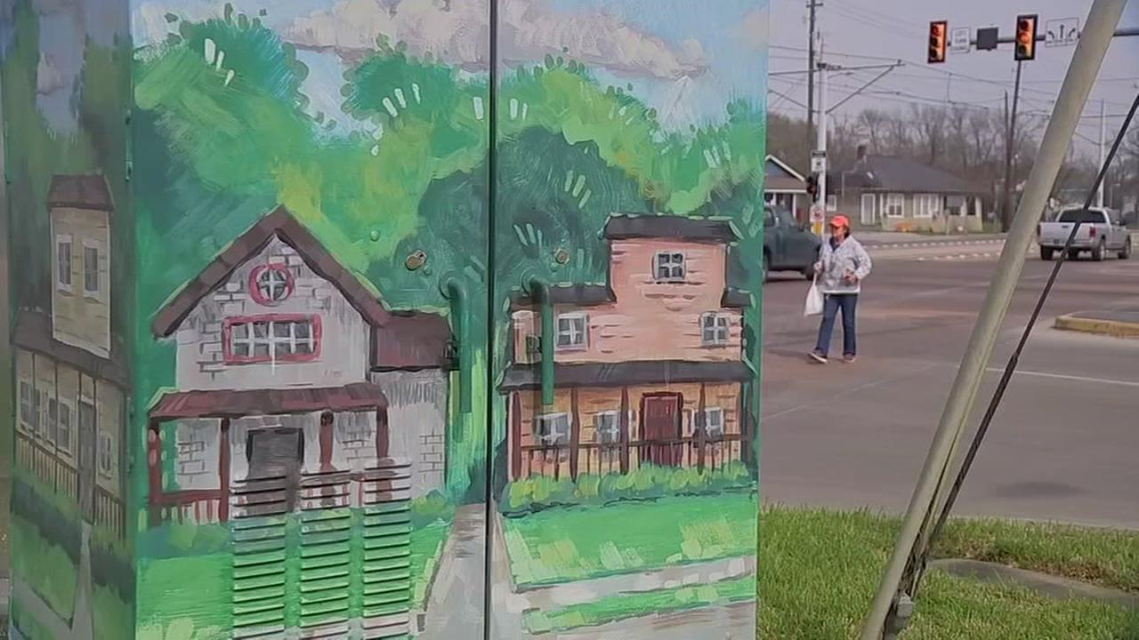 Houston council member Larry Green supported Houstons mini-mural street art
