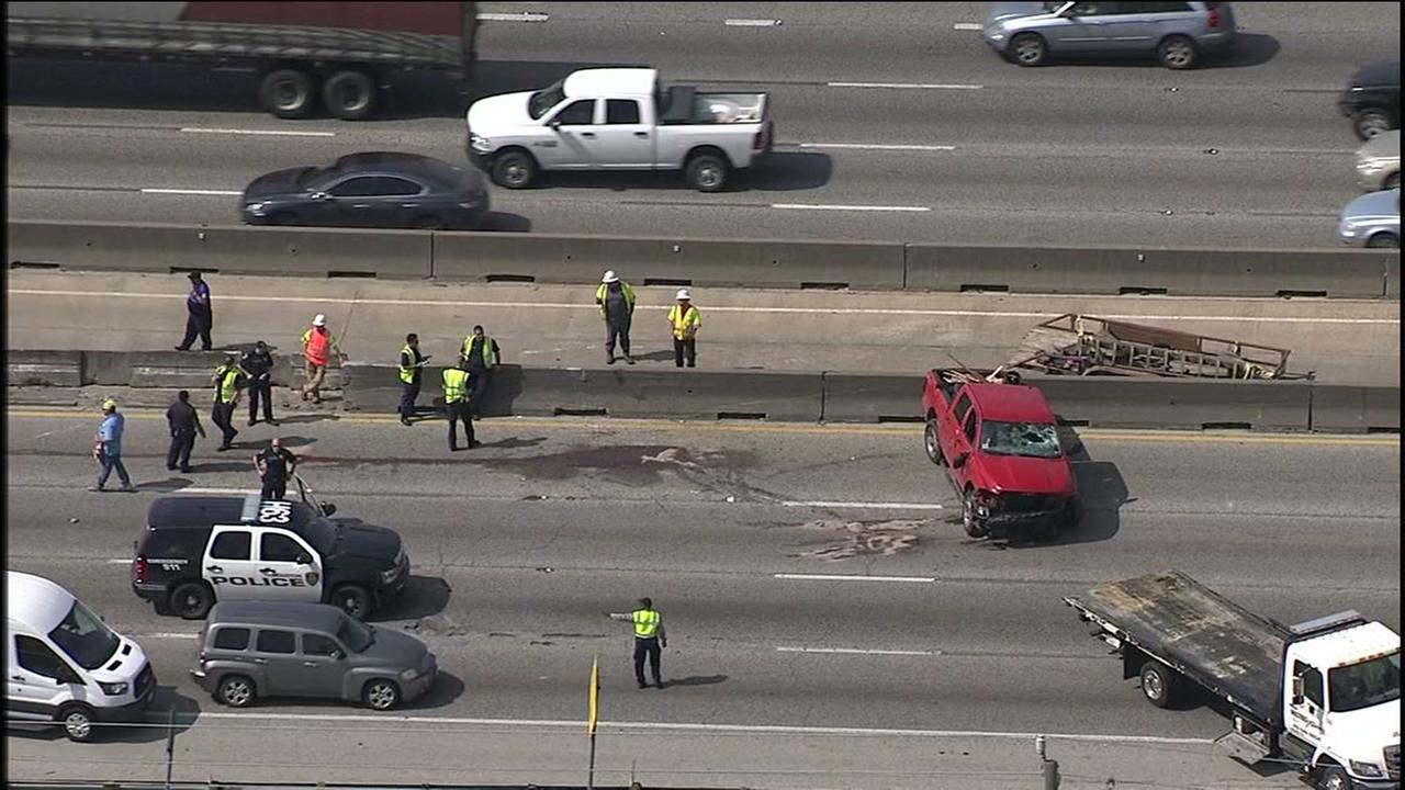 I-45 HOV crash
