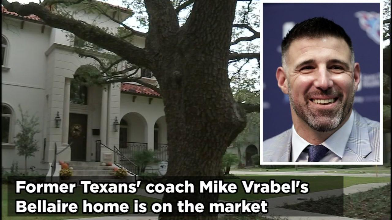 Mike Vrabel has goon to Tennessee but he still has a house in Bellaire that hes put up for sale