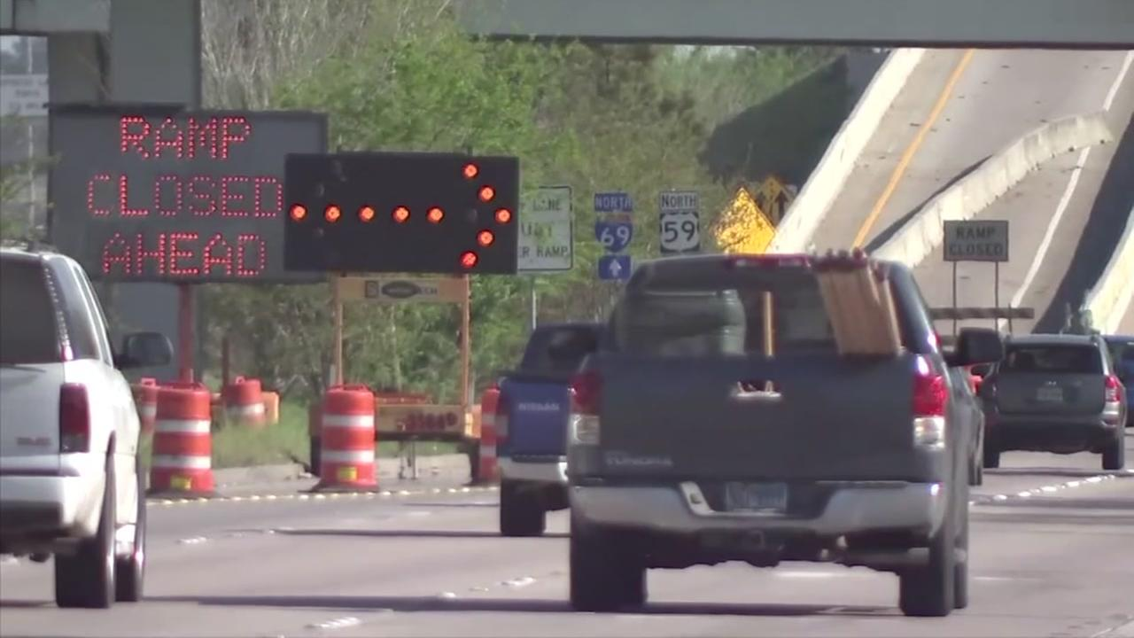 Several closures scheduled as work on US-59 continues