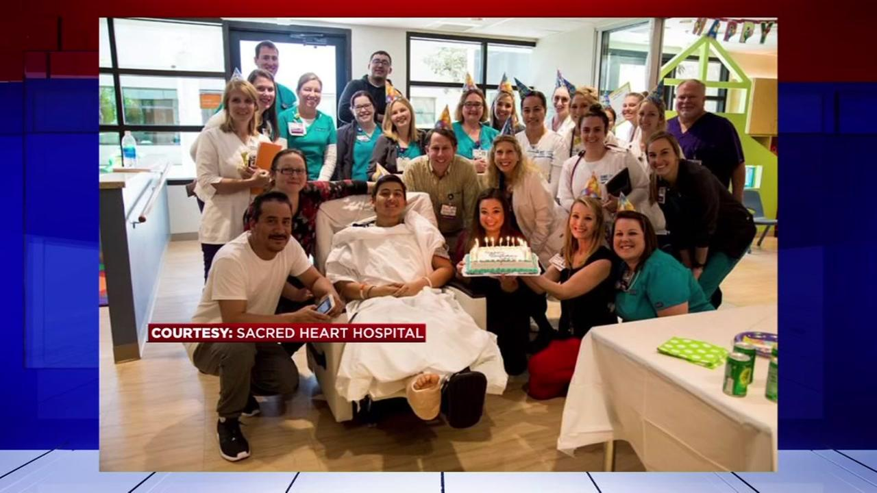 Channelview ISD bus crash survivor celebrates birthday at hospital