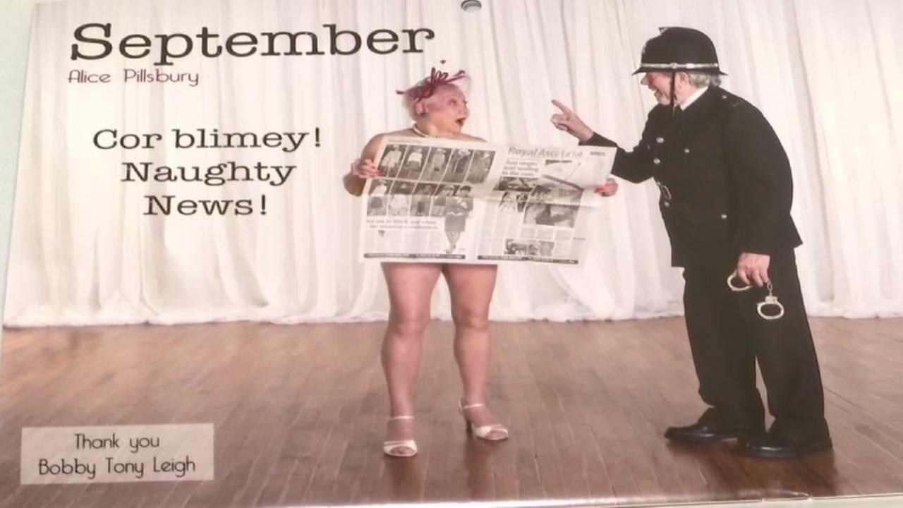 Senior pinup calendar