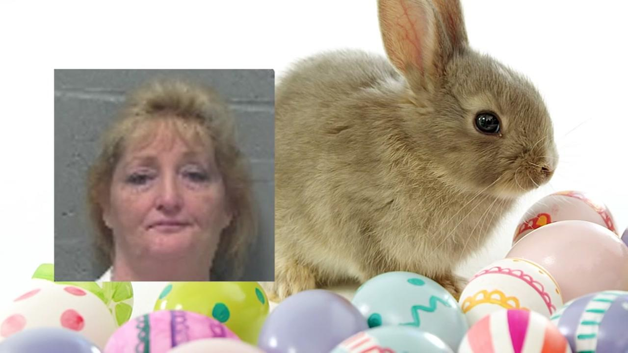 Woman accused of lewd comments toward Easter bunny