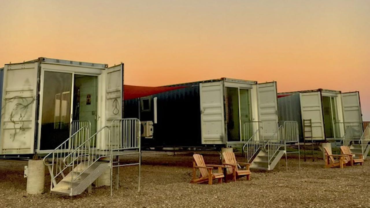Texas first shipping container hotel opens