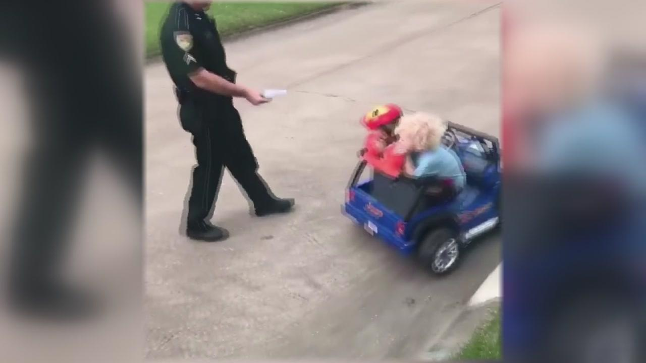 Toddler pulled over