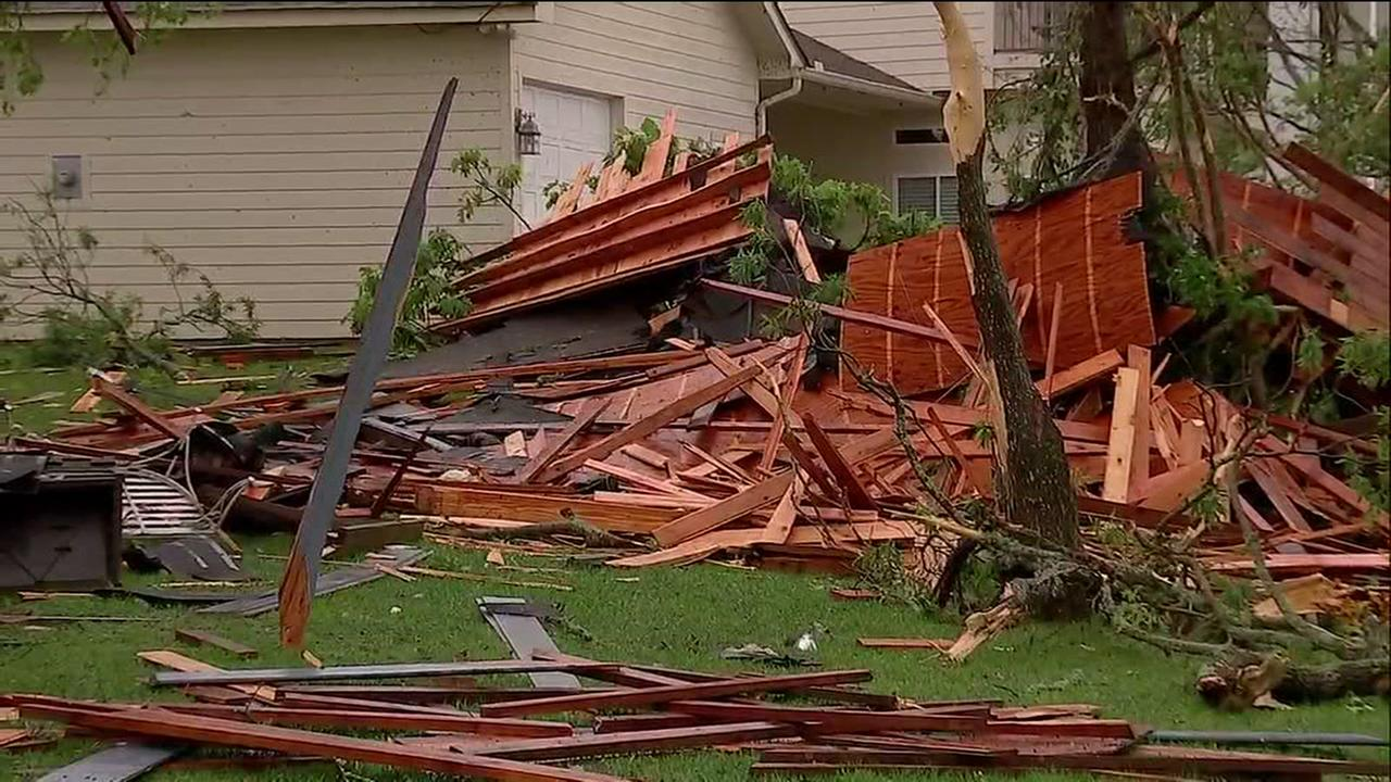 Storm damage in San Jacinto