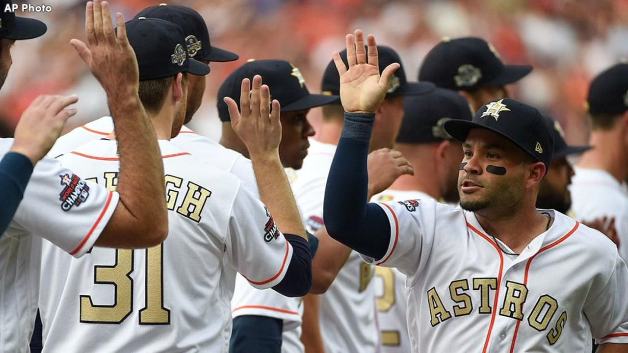 Astros victorious vs. Orioles to open home slate of World Series title defense