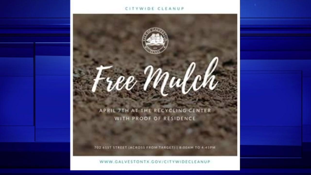 Get free mulch in Galveston