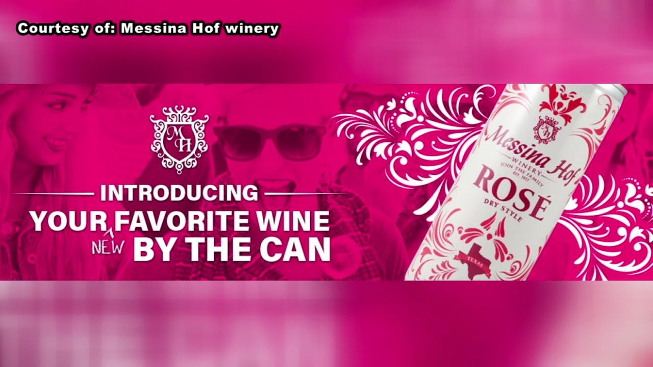Texas winery selling canned wine