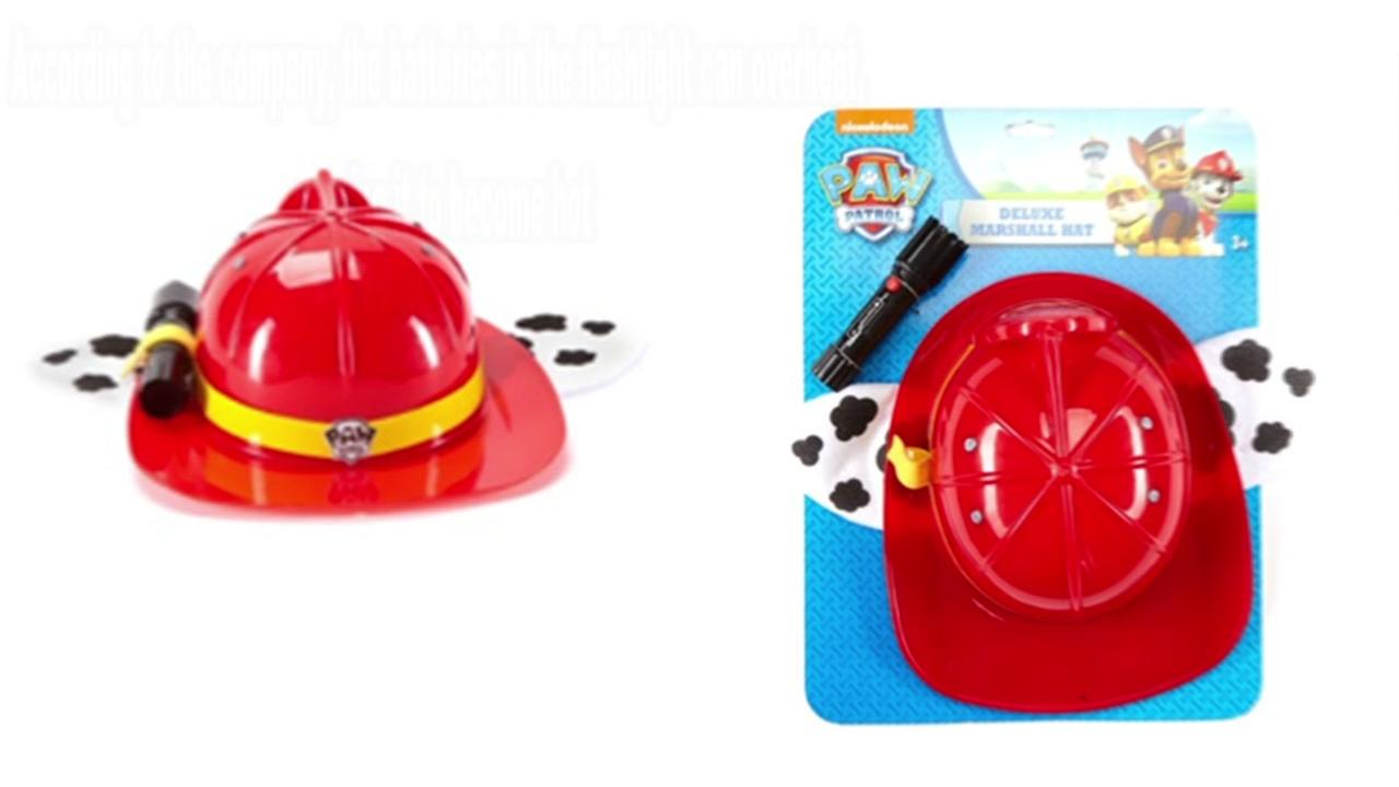 Paw Patrol hats with flashlight recalled due to fire hazard