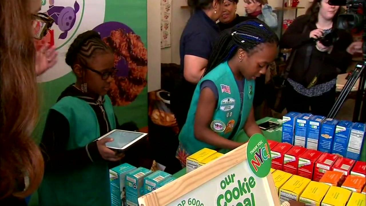 Girl Scout troop with homeless members holds first cookie sale