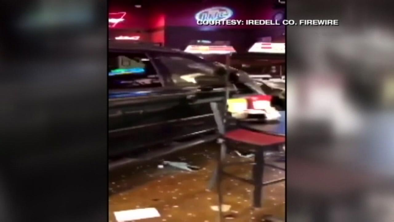Drunk man who was refused service drives into bar