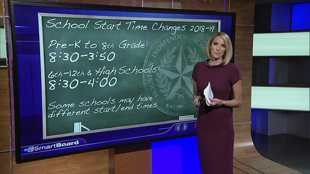 HISD new start times for 2018-2019 school year