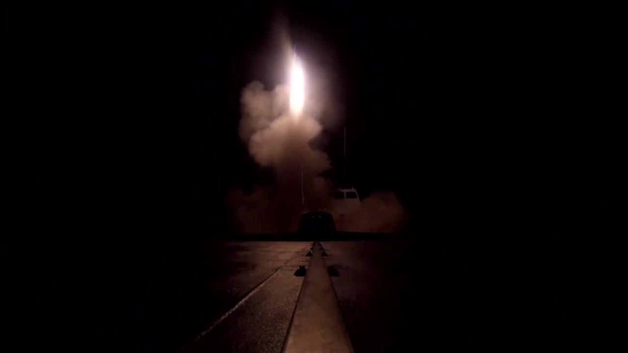 US, UK and France launch Syria strikes targeting Assads chemical weapons