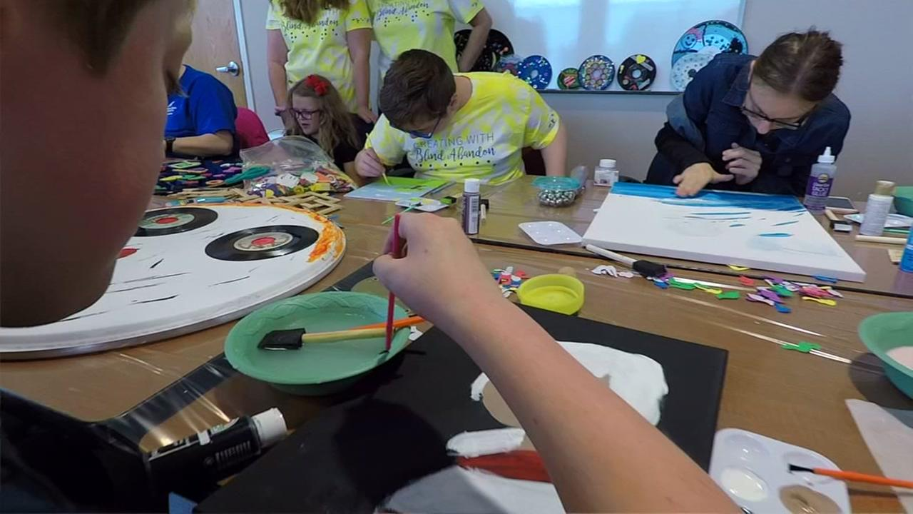 Blind and Visually Impaired Students Create Seeing Eye Dog Art Car