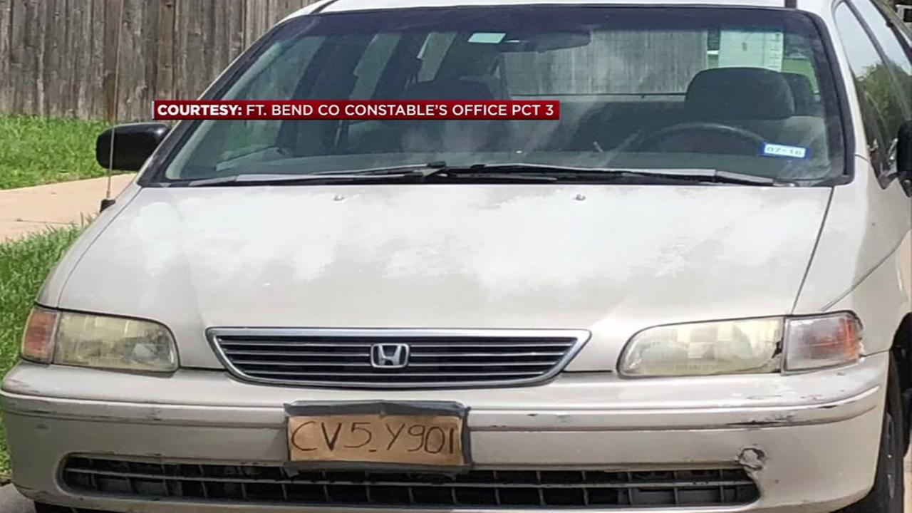 Driver tries to pass off cardboard license plate as real