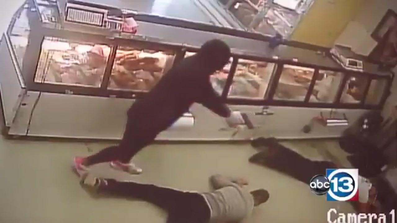 Meat market robbed at gunpoint
