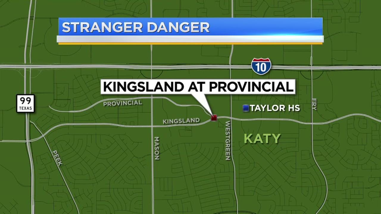 Katy police sends warning to parents and kids about stranger danger incident