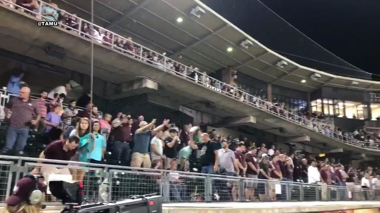 Texas A&M holds moment of silence for Barbara Bush during baseball game