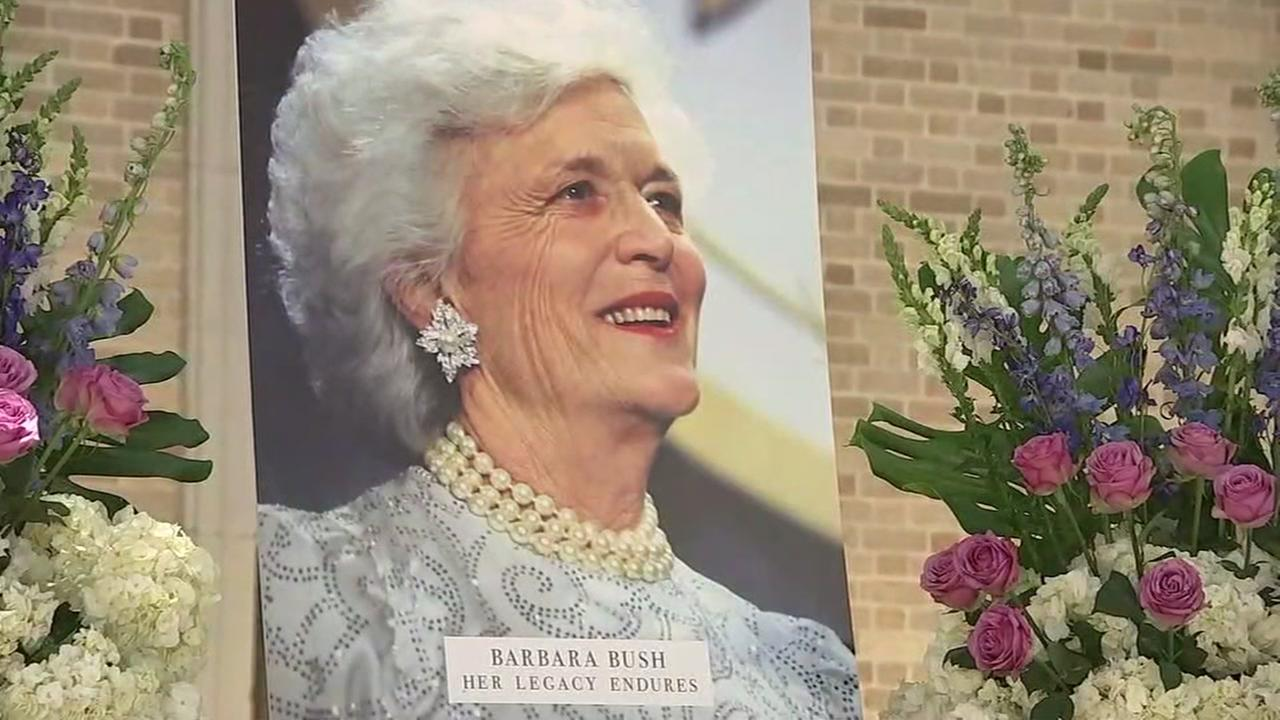 Houston City Hall prepares for Barbara Bushs celebration of life
