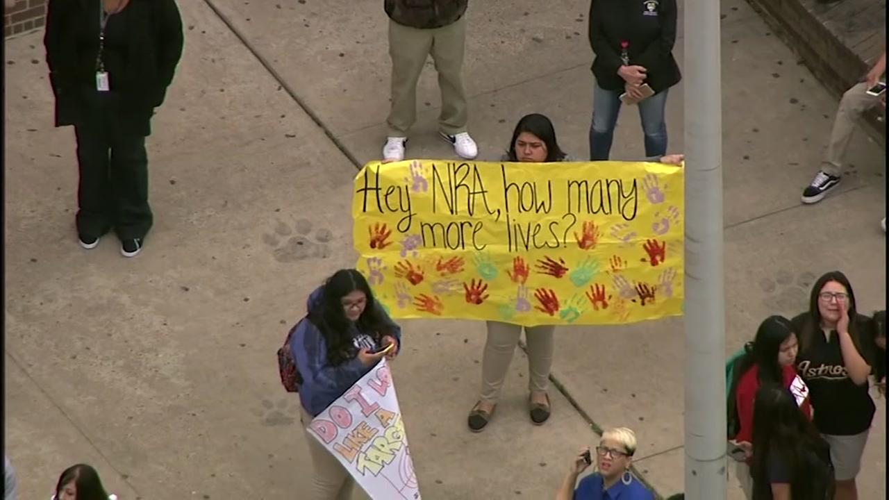 Students walk out of class to protest gun violence