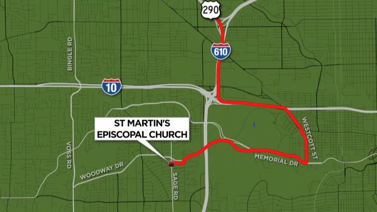 Route for Barbara Bushs funeral procession