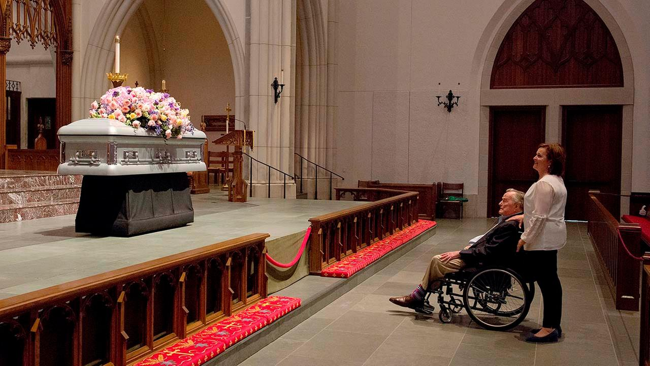 Mourners remember Barbara Bush in Houston