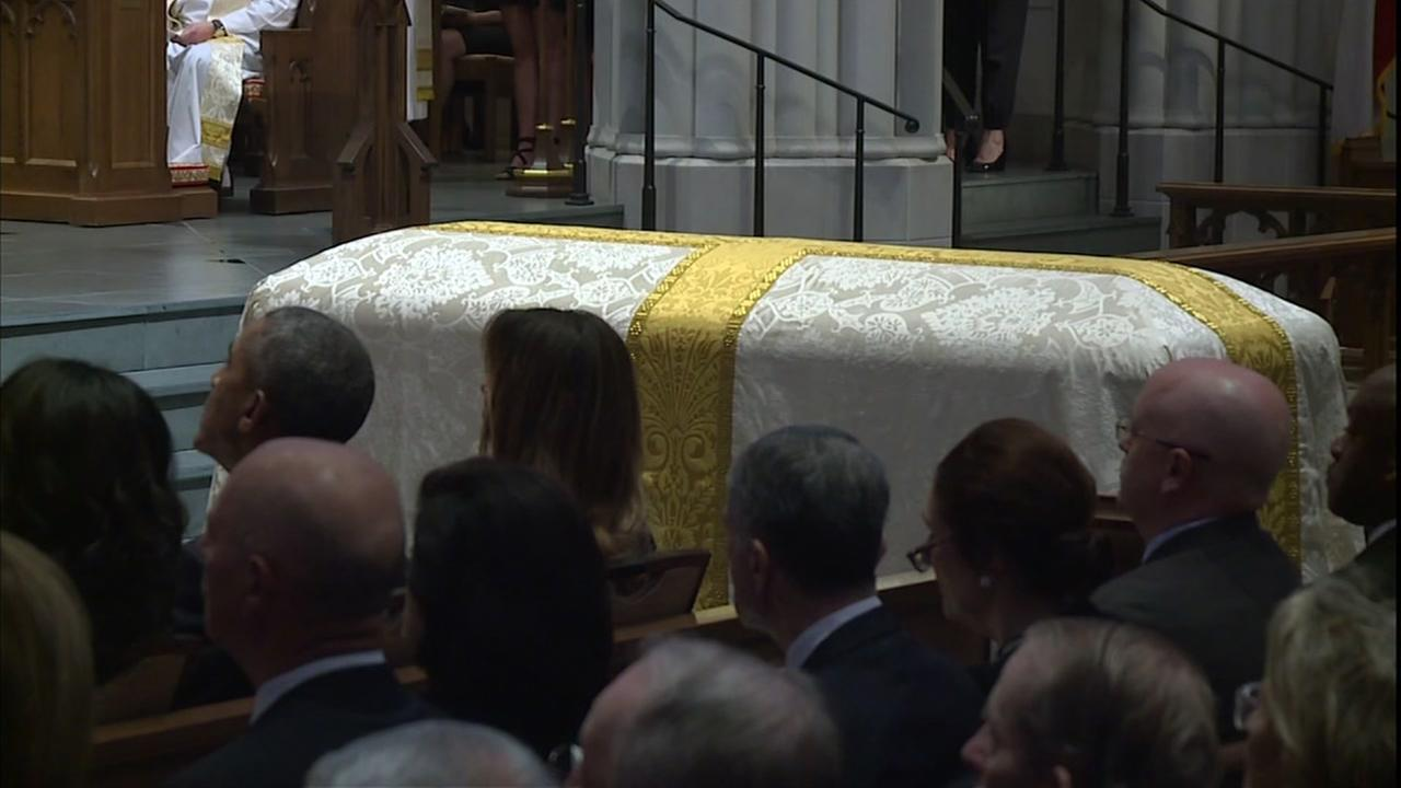 Elissa Rivas has more on the funeral of Barbara Bush