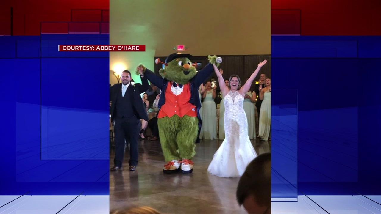 Astros Orbit an invited guest at a wedding