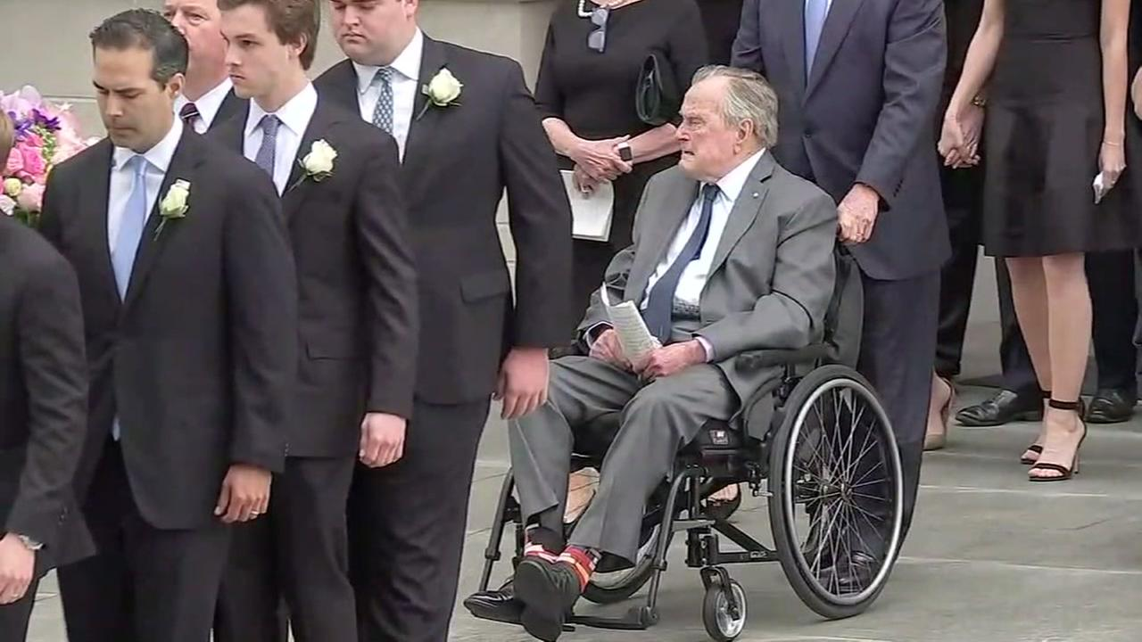 Former President George H.W. Bush in the hospital