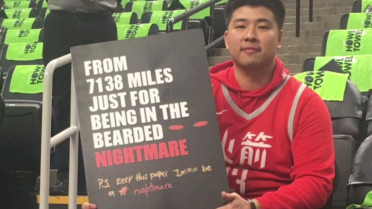 James Harden gives shoe to Rockets fan from Taiwan after Minnesota game
